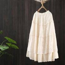 skirt Spring 2021 Average size Black, beige, brown longuette commute High waist A-line skirt Solid color Type A HU050—11795 51% (inclusive) - 70% (inclusive) Lace Zeeoiy / alternative cotton Lace