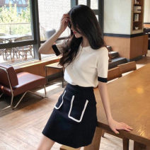 Hanfu 30% and below nylon Spring 2020 Butterfly crane 20200312007 Pure e-commerce (online sales only) S M L XL White top + black skirt
