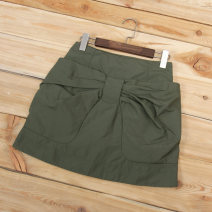 skirt Autumn 2020 Army green, dark blue Short skirt fresh Natural waist A-line skirt Solid color Type H Qingfeng