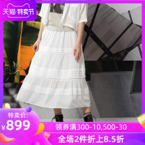 skirt Summer 2020 32 34 36 38 40 W2 white B1 black longuette commute Natural waist Pleated skirt Solid color Type A 25-29 years old EPXGSJ63 51% (inclusive) - 70% (inclusive) other Emodeus Viscose fold Viscose (viscose) 59% polyester 41% Same model in shopping mall (sold online and offline)