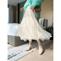 Women's large Spring 2021 Off white, black 0W,2W skirt singleton  commute easy thin lady routine polyester Three dimensional cutting Dimple peach 25-29 years old Lace stitching 91% (inclusive) - 95% (inclusive) Medium length Princess Dress 251g / m ^ 2 (including) - 300g / m ^ 2 (including)