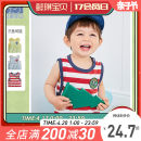 Vest sling Red stripe green stripe blue stripe Sleeveless 73 80 90 100 110 summer Yiqi baby neutral There are models in the real shooting Cartoon Cartoon animation Crew neck nothing other Cotton 95% polyurethane elastic fiber (spandex) 5% YB12BX006 Class A Summer 2021