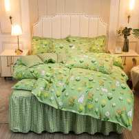 Bedding Set / four piece set / multi piece set Others Quilting Plants and flowers 133X76 Other / other cotton 4 pieces 40 Bed skirt Qualified products Simplicity Below 95% cotton Reactive Print  Thermal storage