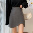 skirt Summer 2021 XXS,XS,S,M Gray, black Short skirt Versatile High waist Irregular Solid color Type A 18-24 years old 51% (inclusive) - 70% (inclusive) other cotton Asymmetric, zipper 121g / m ^ 2 (including) - 140g / m ^ 2 (including)
