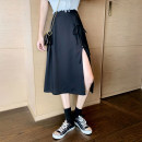 skirt Summer 2021 XS,S,M Black small short [skirt length 65cm], black regular [skirt length 70cm] Mid length dress sexy High waist A-line skirt Solid color Type A 18-24 years old 51% (inclusive) - 70% (inclusive) other polyester fiber zipper 121g / m ^ 2 (including) - 140g / m ^ 2 (including)