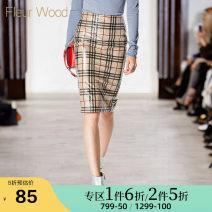 skirt Autumn of 2018 S M L XL brown Middle-skirt street High waist skirt lattice 25-29 years old FDQX012 More than 95% FLEUR WOOD nylon Zipper split Polyamide fiber (nylon) 100% Pure e-commerce (online only) Europe and America