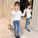 suit nainsect 120cm 130cm 140cm 150cm 160cm female spring and autumn Korean version Long sleeve + pants 2 pieces routine There are models in the real shooting Single breasted nothing Solid color cotton children Expression of love Class B Spring 2021