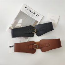 Belt / belt / chain Pu (artificial leather) Khaki black female Waistband Simplicity Single loop Youth Pin buckle Bamiwei 2535-55fualsiuefsdg Autumn 2020 yes