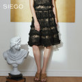 skirt Summer 2021 S M L XL black Mid length dress gorgeous Natural waist Umbrella skirt other 25-29 years old More than 95% other Sikou nylon Polyamide fiber (nylon) 100% Same model in shopping mall (sold online and offline)