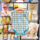 Underwear set 70 for 55 cm, 80 for 65 cm and 90 for 75 cm Or orange, or orange (delivery within 48 hours) Cotton 100% other moimoln summer neutral Class A M212BUN13P 12 months, under 1 year old, 18 months, 2 years, 3 years old Korean version