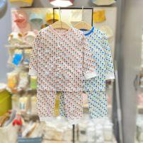 Underwear set Size 80 (cardigan) suits about 65cm, Size 90 (Pullover) suits about 75cm, size 100 (Pullover) suits about 85CM, Size 110 (Pullover) suits about 95cm, Size 120 (Pullover) suits about 105cm, and Size 130 (Pullover) suits about 115cm BL blue, PI Pink Cotton 100% cotton moimoln summer