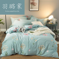 Bedding Set / four piece set / multi piece set cotton other Plants and flowers 32x32 Yulu cotton 4 pieces other Bed sheet, bed skirt First Grade 100% long-staple cotton YLmm01