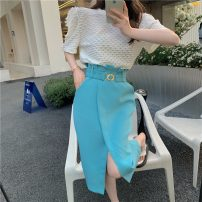short coat Summer 2021 S M L White Top Pink Top Blue buttock Skirt Pink buttock skirt Short sleeve routine routine singleton  Self cultivation other other Crew neck other 18-24 years old Lovely beauty 96% and above other Other 100% Pure e-commerce (online only)