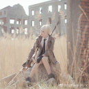 Cosplay men's wear suit Customized Freewind design studio Over 14 years old Cardanhuang fabric full set of clothing + wig, cardanhuang fabric full set of clothing, you can choose your own color, cardanhuang single coat + socks, cardanhuang single coat, full set of clothing [no skirt] game Tailor made