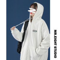 short coat Spring 2021 M L XL 2XL 3XL Long sleeves routine routine singleton  easy Versatile routine Hood zipper letter 18-24 years old 91% (inclusive) - 95% (inclusive) Three dimensional decorative zipper in pocket cotton Cotton 95% polyethylene terephthalate (polyester) 5%