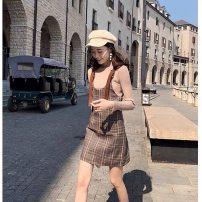 Dress Summer 2020 Dark brown Small (80-100kg), medium (100-12kg) 398#