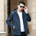 Jacket Business gentleman Navy Black 170/M 175/L 180/XL 185/2XL 190/3XL 195/4XL routine easy Other leisure autumn Polyester 100% Long sleeves Wear out Hood Business Casual middle age routine Zipper placket Cloth hem No iron treatment Loose cuff Solid color Autumn of 2019 Zipper decoration other