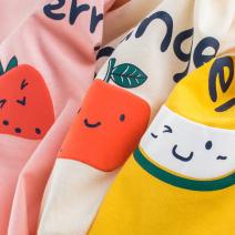 T-shirt Ht9306a gold, ht9306 pink, ht9306 apricot 27home 140cm,130cm,120cm,110cm,100cm,90cm female summer Short sleeve Crew neck Korean version No model cotton Solid color HT9306 Class A 3 months Chinese Mainland