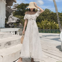 Dress Summer of 2019 Greyish white red S M L XL longuette singleton  Short sleeve Sweet Loose waist Socket Irregular skirt camisole 25-29 years old More than 95% other Other 100% Bohemia Pure e-commerce (online only)