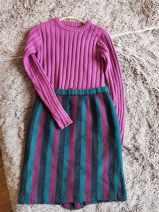 skirt Winter 2020 See size for Korean factory stripe
