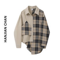 shirt Grey grid S M L Spring 2021 other 96% and above Long sleeves commute Regular Polo collar Single row multi button routine lattice 18-24 years old Straight cylinder HJC / Han JianChan HJC2019271 Button Other 100% Pure e-commerce (online only)