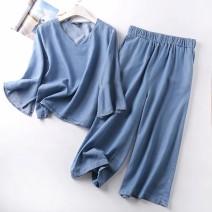 Fashion suit Summer 2020 M,L,XL Denim blue MUMUYICHU 81% (inclusive) - 90% (inclusive)