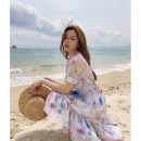 Dress Spring 2021 Decor S,M,L longuette Two piece set Short sleeve commute V-neck High waist Broken flowers other other routine Others 25-29 years old Type A Other / other Korean version LXC2104129242 More than 95% other polyester fiber