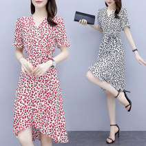 Dress Summer 2021 Red and black M L XL 2XL 3XL 4XL Mid length dress 30-34 years old Type A Jiaboer JBENRJ/B30E/6012 More than 95% other Other 100% Pure e-commerce (online only)