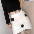 skirt Spring 2021 S,M,L white Short skirt street High waist other Animal design Type O 18-24 years old K20J10211 91% (inclusive) - 95% (inclusive) other KLIOU polyester fiber Chain, wool collar Europe and America