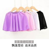 Children's performance clothes Single skirt white, single skirt black female S height (for 100-120cm), m height (for 120-140cm), l height (for 140-170cm) Wuli Class B A016 practice Other 100% Chiffon Chinese style
