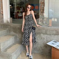 Dress Summer 2021 Shirt + floral skirt, floral skirt S,M,L,XL longuette Two piece set Long sleeves commute other High waist Broken flowers Socket A-line skirt routine camisole 18-24 years old Type A Korean version printing other polyester fiber