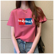 T-shirt Summer 2021 Short sleeve Crew neck easy Regular routine commute cotton 96% and above 18-24 years old classic letter Other / other DKY20042601443001 printing S,M,L,XL,XXL,XXXL