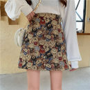 skirt Spring 2021 M,L,XL,2XL,3XL,4XL Picture color Short skirt commute High waist A-line skirt Animal design Type A 18-24 years old GDW Vintage jacquard embroidery bear skirt 71% (inclusive) - 80% (inclusive) other polyester fiber Embroidery, zipper Korean version