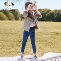 Suit / Blazer Dark grey (spot) 110cm 120cm 130cm 140cm 150cm 160cm 165cm Greedy dog female There are models in the real shooting Korean version spring and autumn lattice Single breasted routine other Class B Autumn of 2019