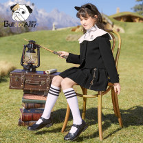 suit Greedy dog Black (stock) 110cm 120cm 130cm 140cm 150cm 160cm female spring and autumn leisure time Long sleeve + skirt 2 pieces routine There are models in the real shooting Single breasted nothing Solid color T9911639 Class C Polyester fiber 91% polyurethane elastic fiber (spandex) 9% Hangzhou