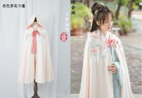 National costume / stage costume Winter of 2018 Apricot Camellia Cape, white crane Cape, red crane Cape, dark pink Cape Average size HD0652 Other / other 18-25 years old