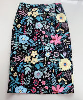 skirt Spring 2020 S,M,L black Mid length dress Versatile High waist Flower bud skirt Decor Type H 30-34 years old More than 95% other polyester fiber