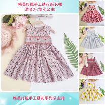 Dress Red sunflower, bright yellow sunflower, elegant gray, purple red stripe female & Other Fairies 120cm,130cm,110cm,140cm,116cm Cotton 100% spring and autumn Britain Skirt / vest Broken flowers Pure cotton (100% cotton content) Pleats Class A 3, 4, 5, 6, 7 Chinese Mainland Guangdong Province