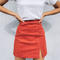 Women's large Autumn 2012 Tangerine Large L, XS, s, M Solid color cotton other 18-24 years old Short skirt