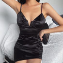 Women's large Winter 2016 black Large L, s, M singleton  Socket Solid color cotton 18-24 years old Short skirt