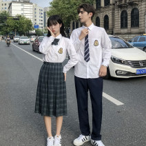 student uniforms Winter 2020, autumn 2020 XS,S,M,L,XL,2XL,3XL,4XL,5XL Long sleeves solar system skirt 18-25 years old Xingnai superior product polyester 81% (inclusive) - 90% (inclusive)