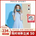 Dress Summer 2020 Blue, black, red, leather powder, gray blue, navy blue S,M,L,XL,2XL Mid length dress singleton  Short sleeve Sweet Polo collar middle-waisted Solid color other other routine Others 25-29 years old Type A Polo Sport More than 95% other cotton college
