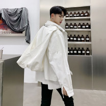 Jacket Other / other Youth fashion White, black M,L,XL,2XL routine easy Other leisure Four seasons Cotton 95% polyester 5% Long sleeves Wear out Hood tide youth short Zipper placket 2019 Cloth hem No process Closing sleeve Solid color other Mingji thread patch bag cotton
