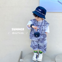 suit Other / other Three piece set 100cm,110cm,120cm,130cm,140cm,150cm male summer Korean version Short sleeve + pants 3 pieces routine There are models in the real shooting Socket nothing other Grey cashew three piece set 14, 13, 12, 11, 10, 3, 4, 5, 6, 7, 8, 9