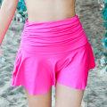 Split swimsuit Eniffrey Black, white, red, rose, purple M,L,XL Skirt split swimsuit No steel support, no chest pad nylon female