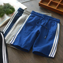 trousers Other / other male Blue, black, gray, navy summer shorts motion Sports pants Leather belt middle-waisted cotton Don't open the crotch Four, five, six, seven, eight, nine, ten, eleven, twelve, thirteen, fourteen