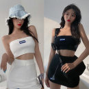 Casual suit Spring 2021 White (bra + skirt) black (bra + skirt) S [two piece set] m [two piece set] l [two piece set] 18-25 years old TX708## Love song Polyester 95% polyurethane elastic fiber (spandex) 5% Pure e-commerce (online only)