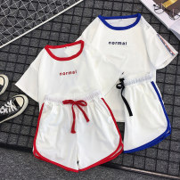 Casual suit Summer of 2019 S [short sleeve + shorts] m [short sleeve + shorts] l [short sleeve + shorts] XL [short sleeve + shorts] XXL [short sleeve + shorts] 18-25 years old Love song Polyester 95% polyurethane elastic fiber (spandex) 5% Pure e-commerce (online only)
