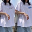 T-shirt [white short sleeve] time2018 [white short sleeve] little sun [white short sleeve] small blue havism [white short sleeve] double planet [white short sleeve] little whale [white short sleeve] white solid black short sleeve sling M L XL XXL Summer 2021 Short sleeve Crew neck easy Regular 0225#