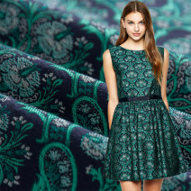 Fabric / fabric / handmade DIY fabric cotton 1 0.1 M (1 m for 10) emerald green Loose shear rice Plants and flowers jacquard weave clothing Europe and America 30% (excluding) - 40% (including) LS0003